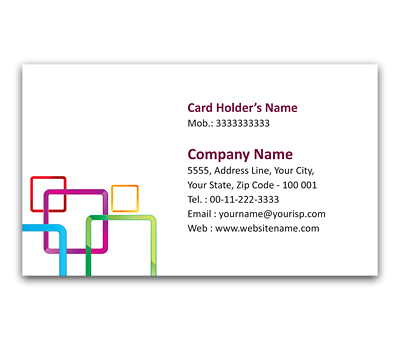 Online Flexi Business Card printing Square over square
