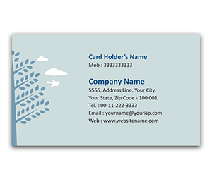Flexi Business Card printing Save Tree