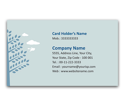 Online Flexi Business Card printing Save Tree