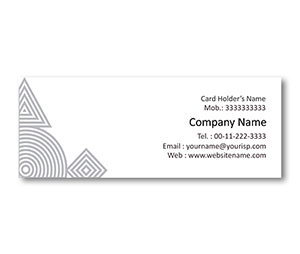 Mini Business Cards printing Geometry Shape