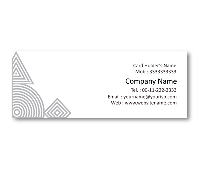 Online Mini Business Cards printing Geometry Shape