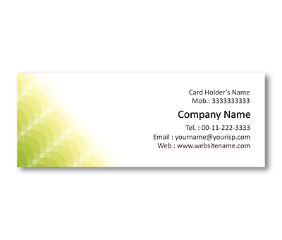 Online Mini Business Cards printing Eco Care