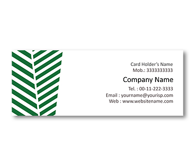 Online Mini Business Cards printing Green fields