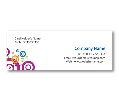 Online Mini Business Cards printing Cool Circle Designs