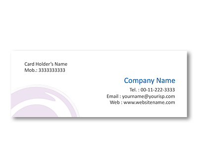 Online Mini Business Cards printing Colorful Swirls Design