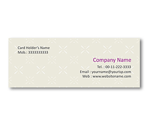 Mini Business Cards printing Fabric Pattern