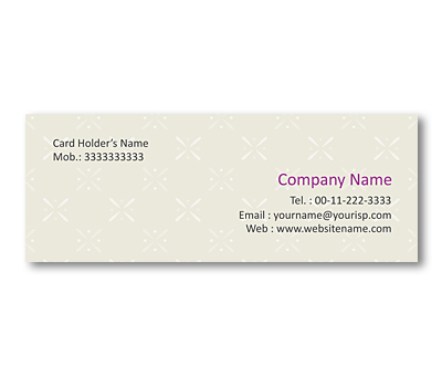 Online Mini Business Cards printing Fabric Pattern