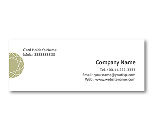 Mini Business Cards printing Diamond Shop