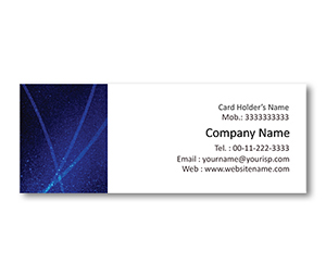 Mini Business Cards printing Blue Rays