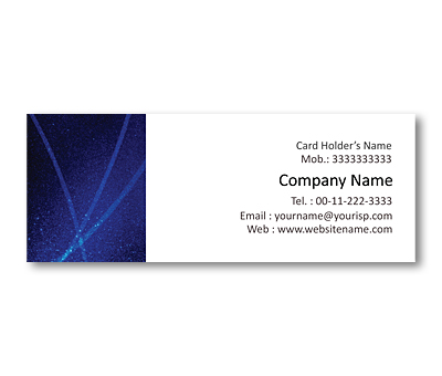 Online Mini Business Cards printing Blue Rays