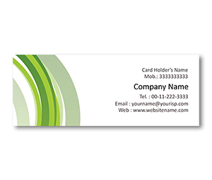 Mini Business Cards printing Green Line Background