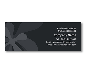 Mini Business Cards printing Plant Leaf Shapes