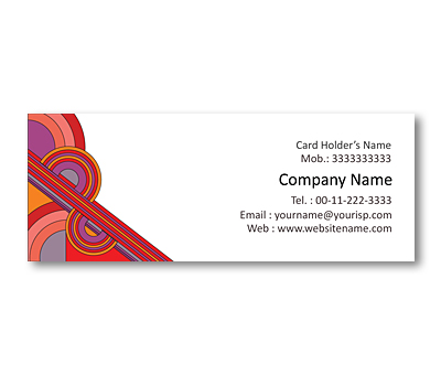 Online Mini Business Cards printing Geometric Color Patterns