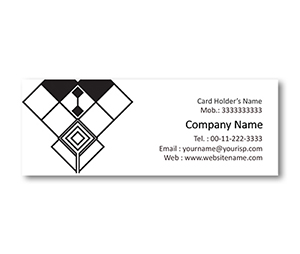 Mini Business Cards printing Black & White Pattern