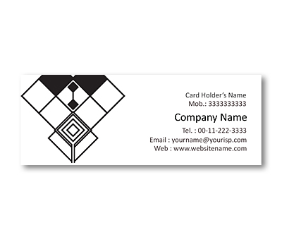 Online Mini Business Cards printing Black & White Pattern