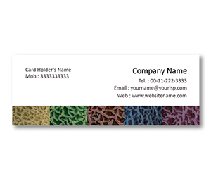 Mini Business Cards printing Melon Skin Pattern