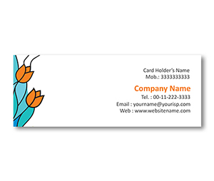 Mini Business Cards printing Stained Glass Design