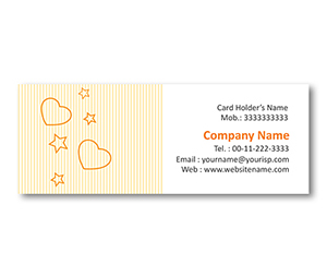 Mini Business Cards printing Cake Shop