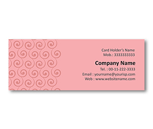 Mini Business Cards printing Swirl Pattern