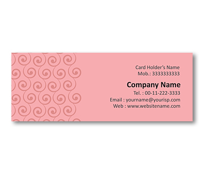 Online Mini Business Cards printing Swirl Pattern