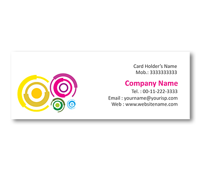 Online Mini Business Cards printing Interlock Circles