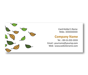 Mini Business Cards printing Fall Foliage