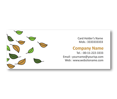 Online Mini Business Cards printing Fall Foliage