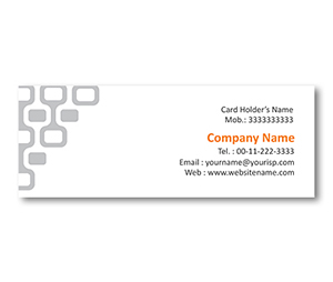 Mini Business Cards printing Partition Grid Design