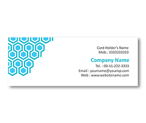 Mini Business Cards printing Honeycomb Grid