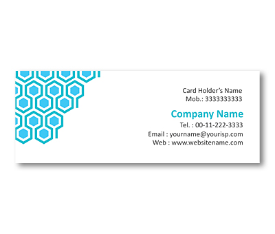 Online Mini Business Cards printing Honeycomb Grid