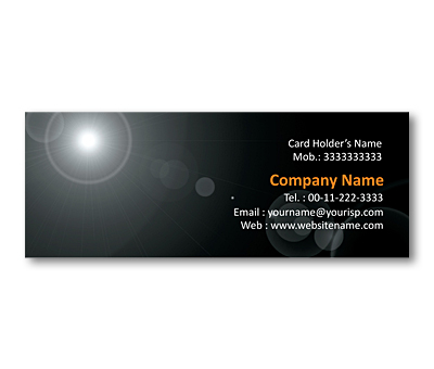 Online Mini Business Cards printing Sun Rays