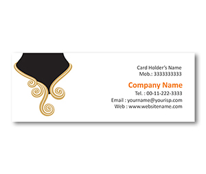 Mini Business Cards printing Golden Jewelry Store