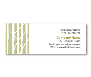 Mini Business Cards printing Bamboo Plants