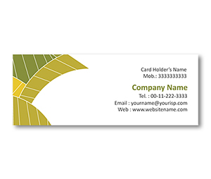 Mini Business Cards printing Leaf Texture