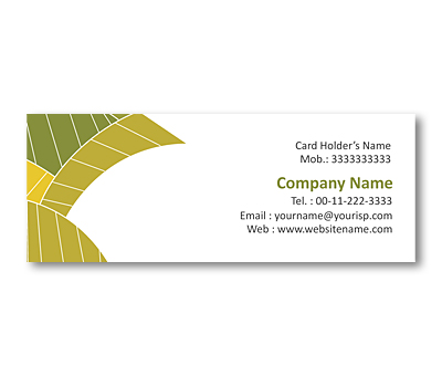 Online Mini Business Cards printing Leaf Texture