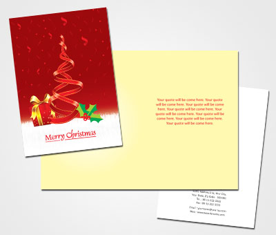 Online Greeting Card printing Business Christmas
