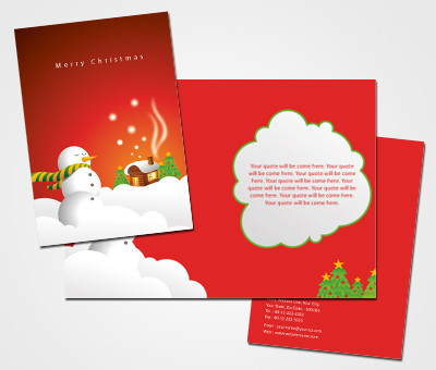 Online Greeting Card printing Christmas Card