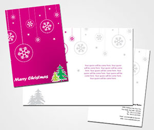 printing Merry Christmas Card