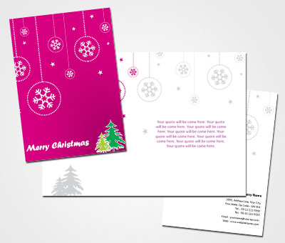 Online Greeting Card printing Merry Christmas Card