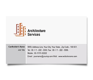 Business Card printing Architecture Buildings