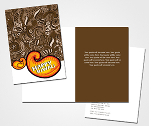 Greeting Card printing Celebrating Diwali