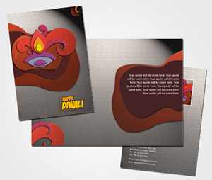 printing Happy Diwali Greeting