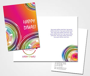 Greeting Card printing Diyas For Diwali