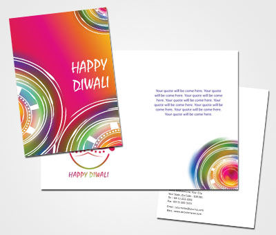 Online Greeting Card printing Diyas For Diwali