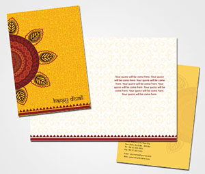 Greeting Card printing Happy Diwali Folks