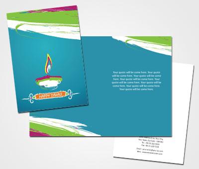 Online Greeting Card printing Diwali Clay Lamps