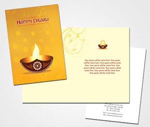 Greeting Card printing Diwali Puja