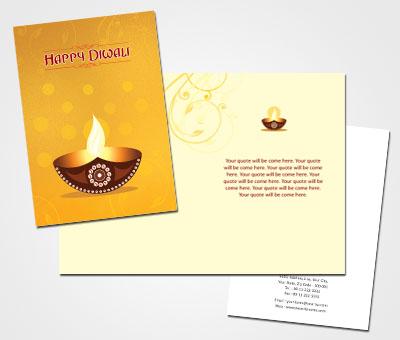 Online Greeting Card printing Diwali Puja