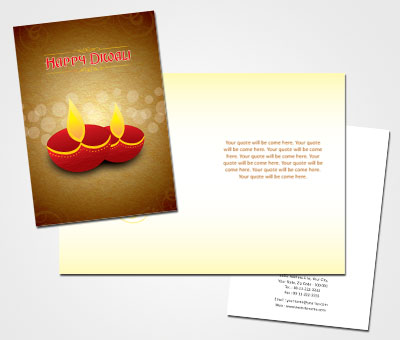 Online Greeting Card printing Diwali Wishes Cards