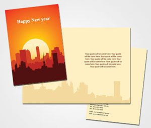 Greeting Card printing Celebrating New Year